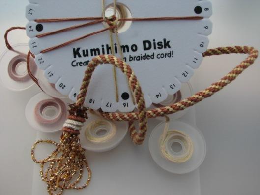 Inkled Pink Kumihimo