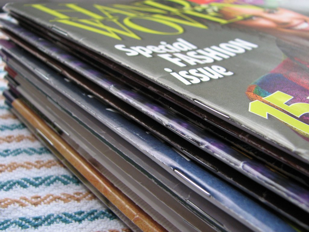 Stack of Handwoven Magazine