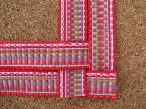 Inkle Band woven heart step 1