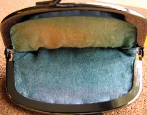 Inkle band change purse batik lining