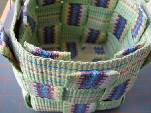 Inkle band basket project step 10